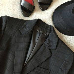 Antonio Melani Plaid Black  Blazer